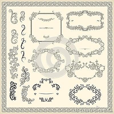 Elementos del diseño del vintage