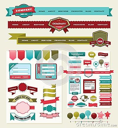 Elementos do projeto do Web site