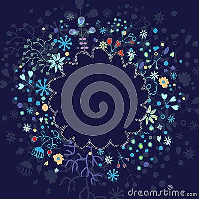 Elementos florais da mola