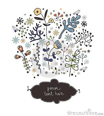 Elementos florales de la primavera