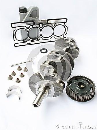 Elementos y piezas del motor