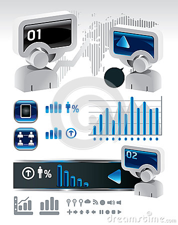 Elements of business and finance infographics