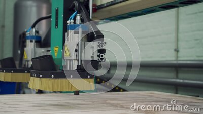 CNC machine in work. stock footage