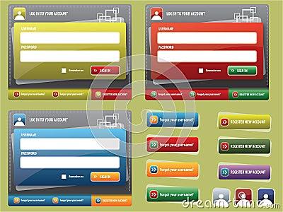 Elements for creating websites