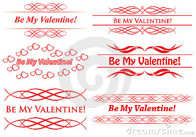 Elements for design - be my valentine - vector