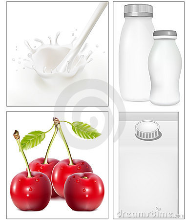 Elements for design of packing milk dairy.