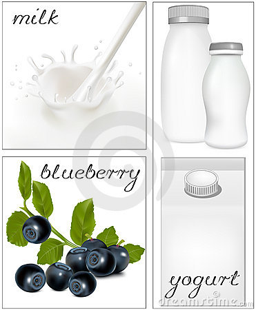 Elements for design of packing milk dairy. Milky s