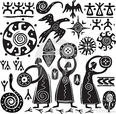 Free Elements For Designing Primitive Art Stock Photo - 20459490