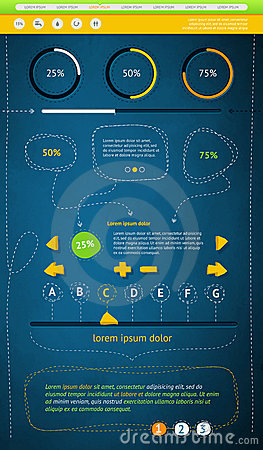 Elements of Infographics with buttons