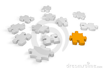 Elements of a jigsaw puzzle
