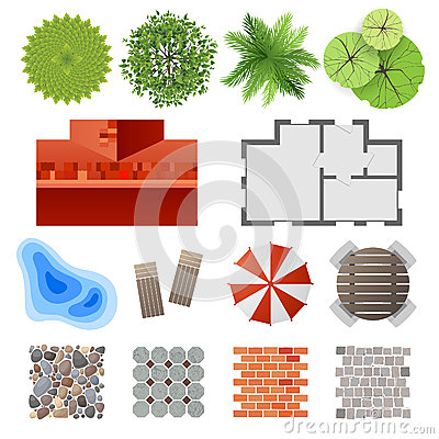 elements for landscape design royalty free stock photos