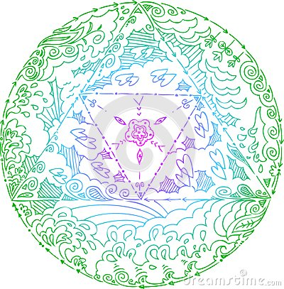 Four Elements Mandala Vector