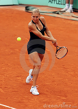 Elena Vesnina (RUS) at Roland Garros 2009 Editorial Photography