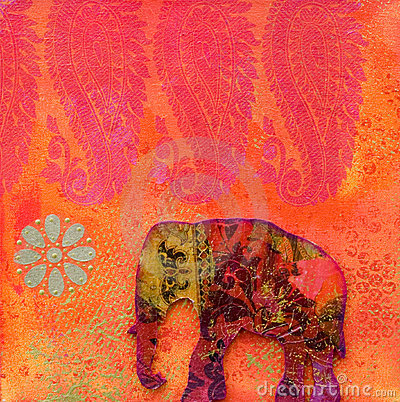 Free Elephant Artwork Royalty Free Stock Images - 3333809