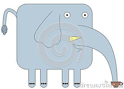 Elephant on break