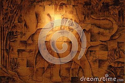 Elephant brick background
