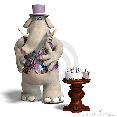 Free Elephant Bridegroom In Tux Royalty Free Stock Photo - 9430205