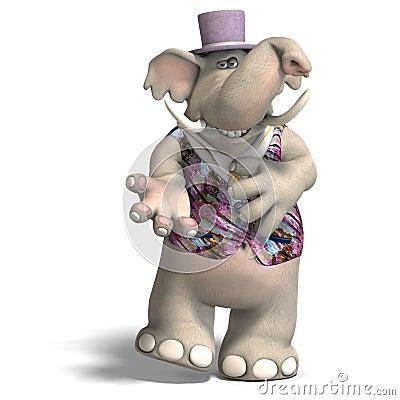 Elephant Bridegroom in tux