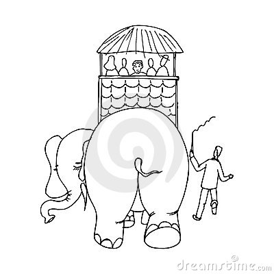Elephant carrying people