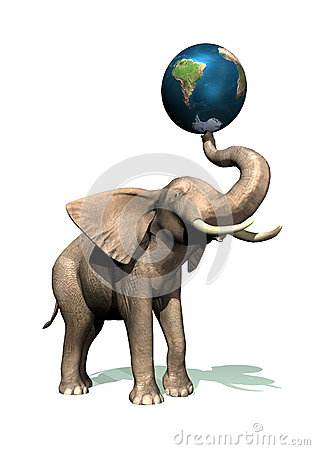 Elephant and earth