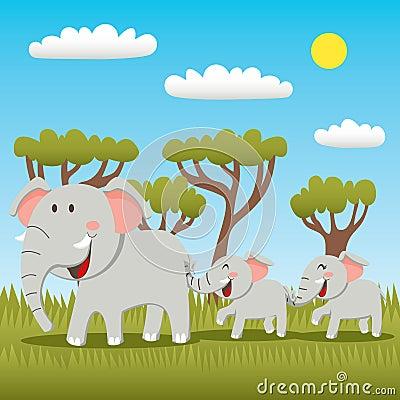 Free Elephant Family Royalty Free Stock Images - 19295469
