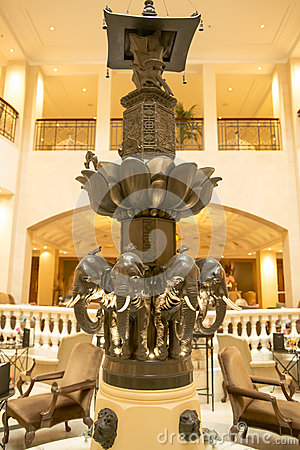 Elephant-fountain Hotel Adlon, Berlin Editorial Stock Image