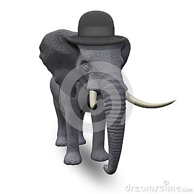Elephant in a hat