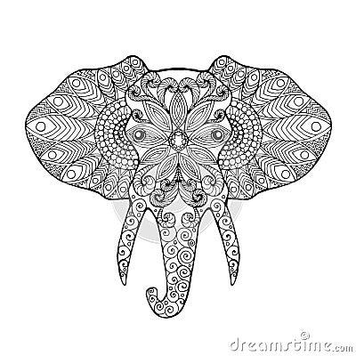Elephant Head Stock Vector Image