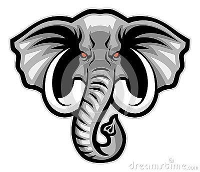 elephant head mascot stock vector image 45363324