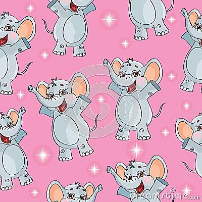 Elephant kids pattern wallpaper background in