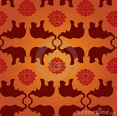 Elephant lotus pattern