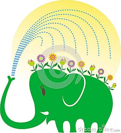 Elephant love gardening