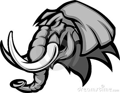 Elephant Mascot Head Vector Graphic