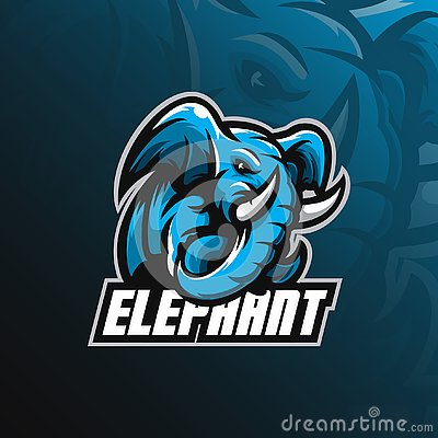 Elephant mascot logo design vector with modern illustration concept style for badge, emblem and tshirt printing. angry elephant Vector Illustration