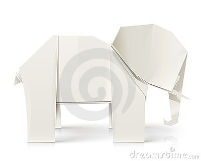Elephant origami paper toy