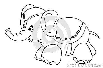 Elephant - outlined