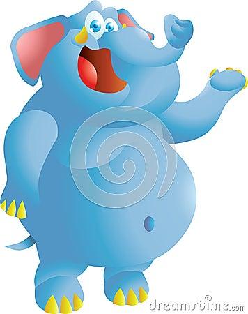 Elephant presenting