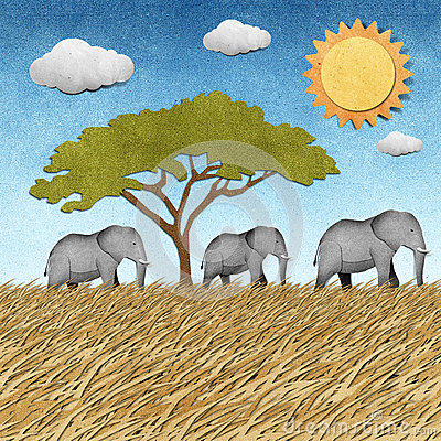 Free Elephant Recycled Paper Background Stock Photo - 26162070