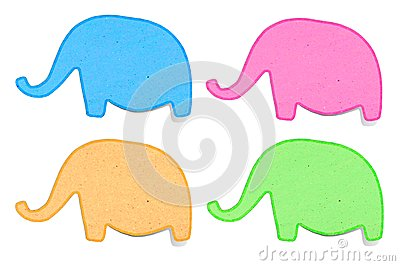 Elephant recycled paper craft stick