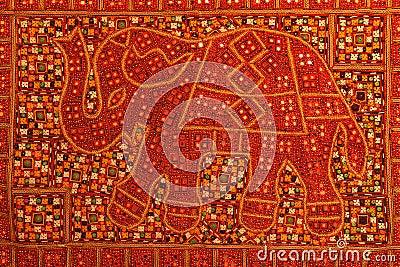 Elephant on red carpet