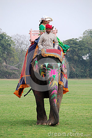Elephant riding in India Editorial Photography