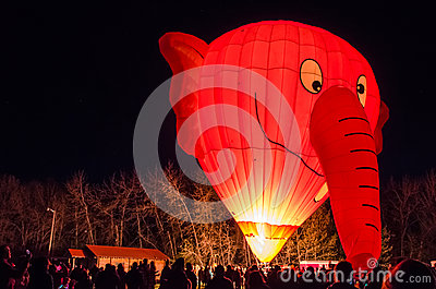 Elephant Shaped Glowing Hot Air Balloon