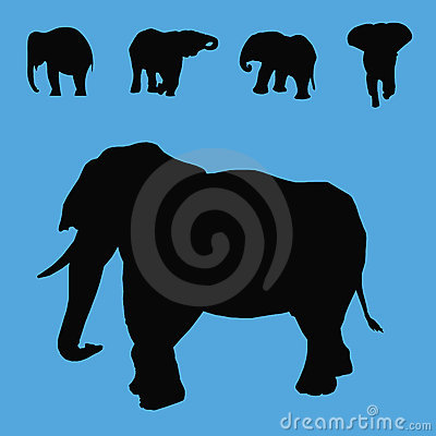 Elephant silhouettes collection