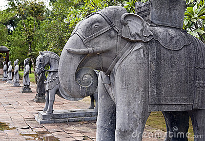 Elephant Statues at Minh Mang Tombs