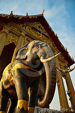 Elephant in the temple, religious symbol