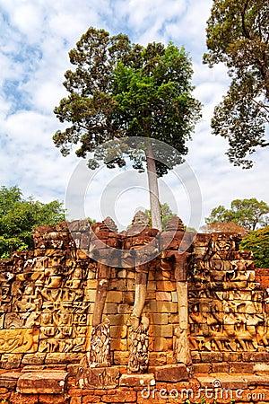 Free Elephant Terrace, Ankgor Thom Stock Images - 49582034