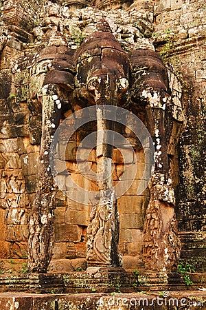Free Elephant Terrace, Ankgor Thom Royalty Free Stock Photography - 49582137