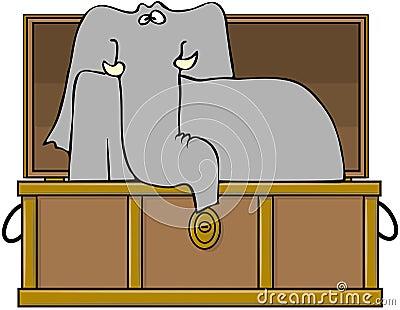 Elephant In A Trunk