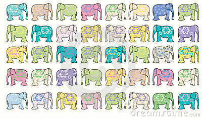 Elephant vector background