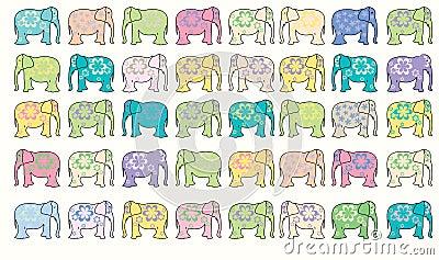 Elephant vector background